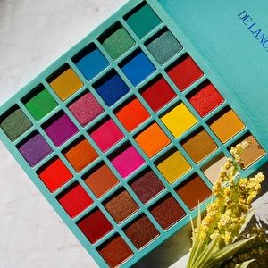 Delanci rainbow palette- few shades swatched once.